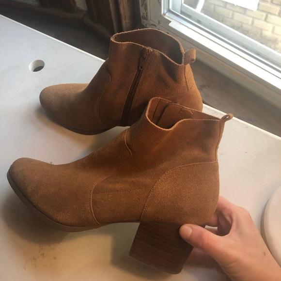 Brown DSW Crown Vintage booties—hardly worn!